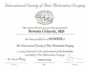 certyfikat ISHRS